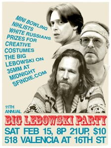 2014 SF Indiefest Big Lebowski Party Ad