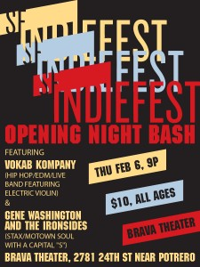 2014 SF Indiefest Opening Party Ad
