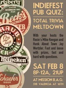 2014 SF Indiefest Pub Quiz Night Ad