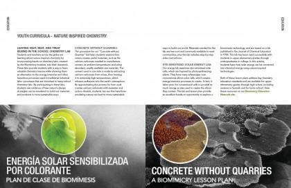 The Biomimicry Institute Annual Report Spread